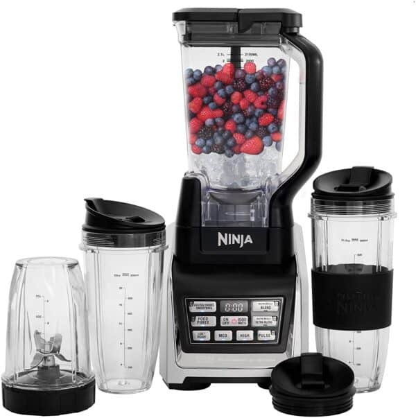 Nutri Ninja Personal and Countertop Blender with 1200-Watt Auto-iQ Base