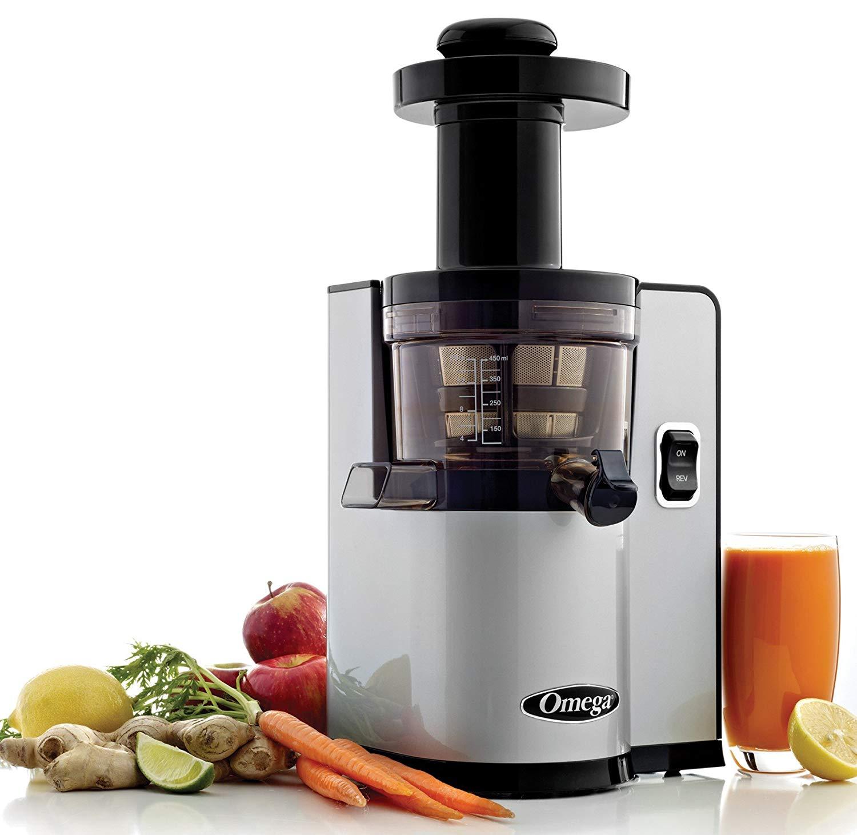 Omega VSJ843QS Vertical Slow Masticating Juicer for celery