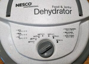 nesco fd75a controls